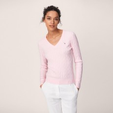 Gant Stretch Cotton V-Neck Sweater