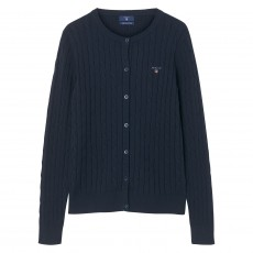 Gant Stretch Cotton Cable Cardigan