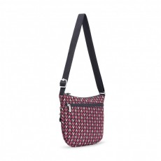 Arto S Pink Chevron Small Crossbody