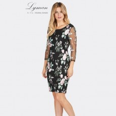 Frank Lyman Dress Black/Pink