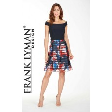 Frank Lyman Dress Navy/Multi