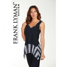 Frank Lyman Top Navy/White