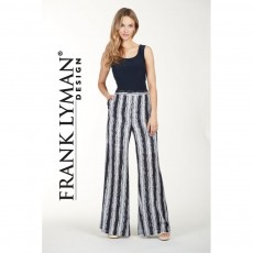 Frank Lyman Trousers Navy/White