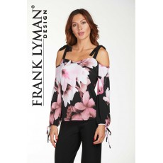 Frank Lyman Top Pink/Black
