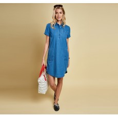 Barbour Littlehaven Dress Mid Blue