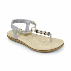 Murano Grey Beaded Sandal