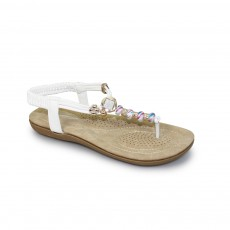 Murano New White Beaded Sandal