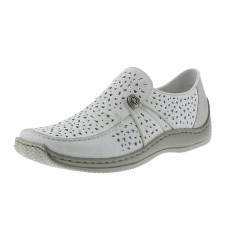 Rieker Slip on Sneaker White/Silver