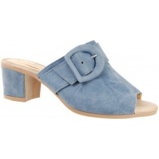 Capollini Martina Blue Buckled Mule