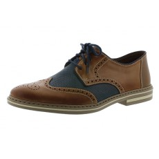 Rieker Lace Shoe Toffee/Navy