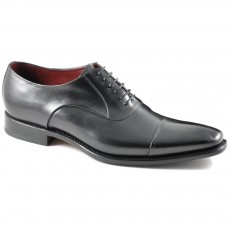 Loake Snyder Black Toe Cap Shoe