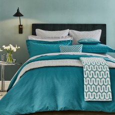 Bedeck Peacock Blue Hotel Collection Elysian Bedding Peacock