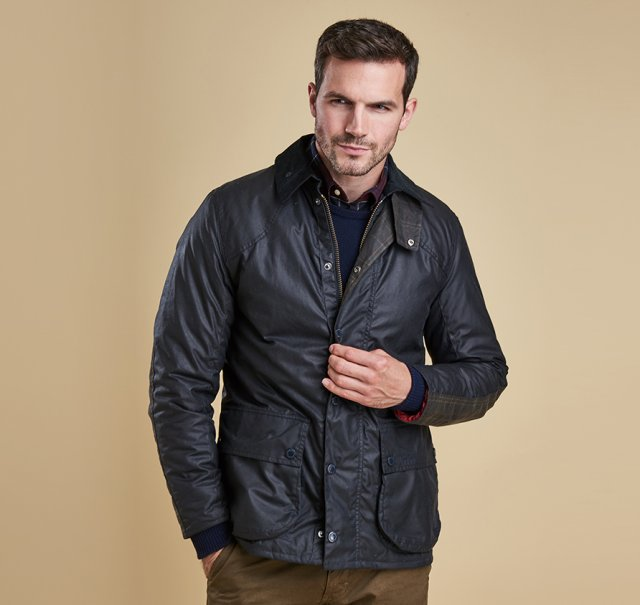 Barbour Digby Wax Jacket  Navy