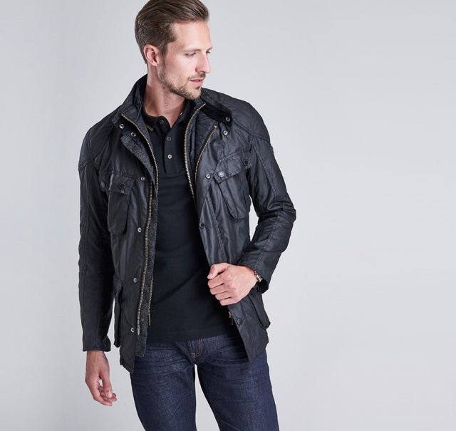 Barbour International  Gauge Wax Jacket Black