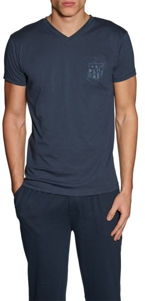 Gant T-Shirt V-Neck Seasonal Navy