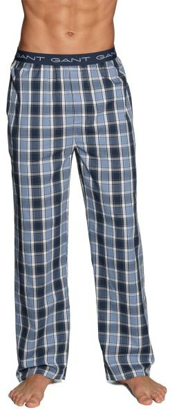 Gant Pyjama Pant Check Logo Nightfall Blue