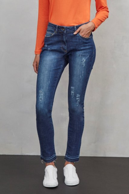 Great Plains Real Deal Raw Hem Distressed Jeans