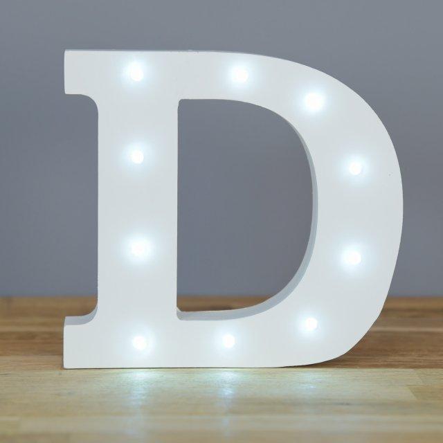 light up letter d home decor barbours With letter d home decor