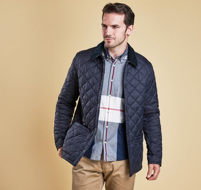 Barbour Pembroke Quilt Navy