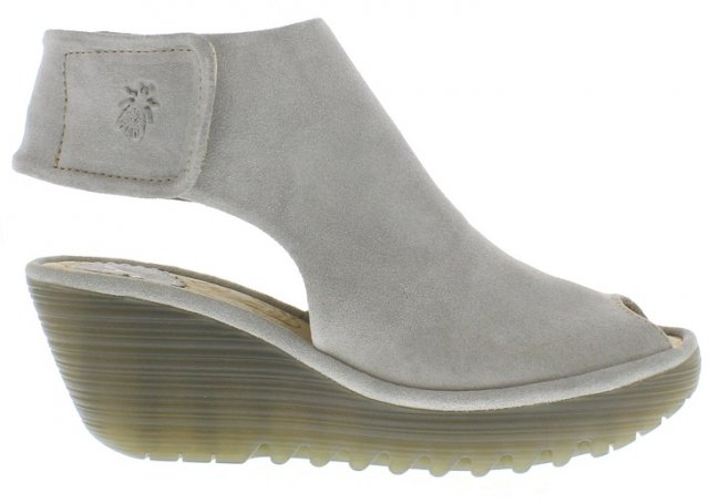 Fly London Suede Concrete Sandal