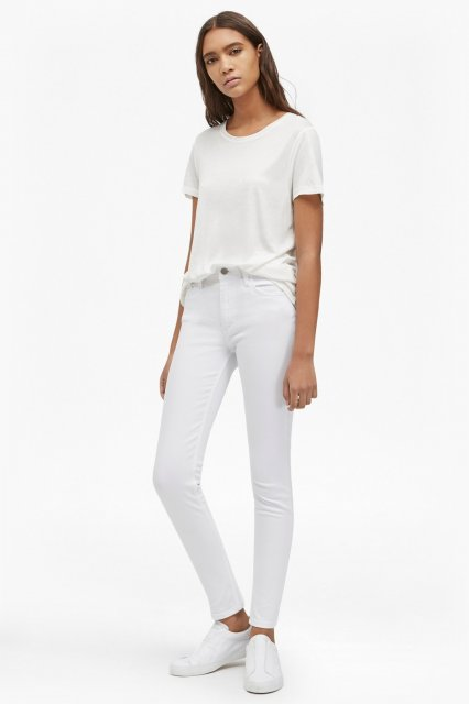 French Connection Rebound Skinny Jean Summer White