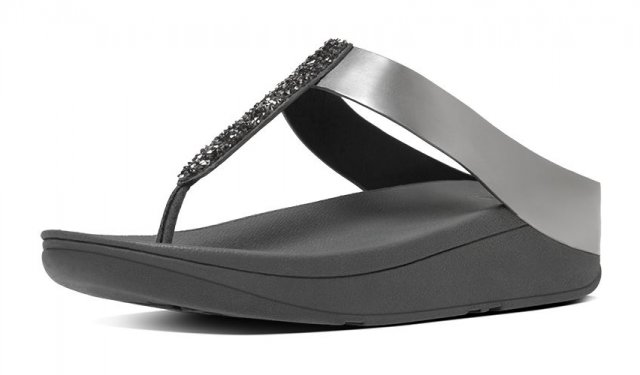 FitFlop Fino Toe-Post Pewter