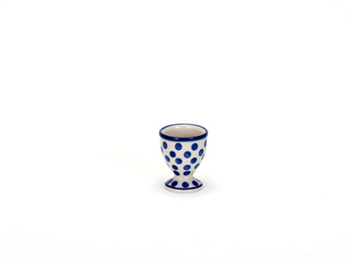 Egg Cup Small Blue Dot