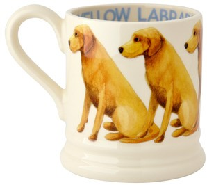 Emma Bridgewater Yellow Labrador 1/2 Pint Mug 2014