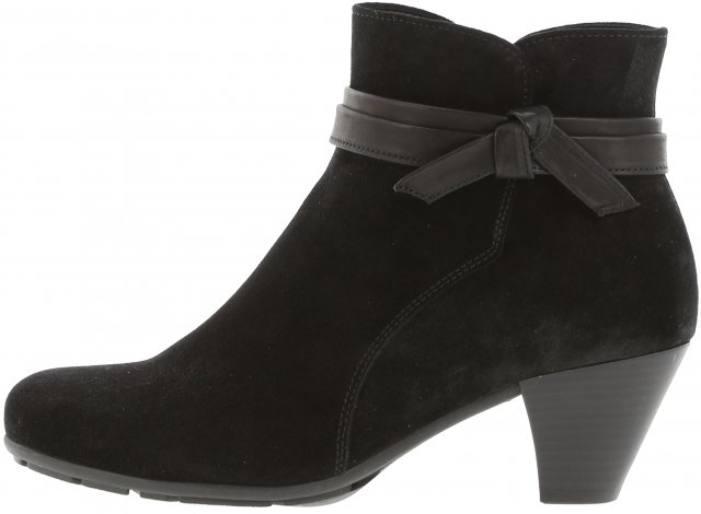 Gabor Soft Pearl/Black Ankle Boot