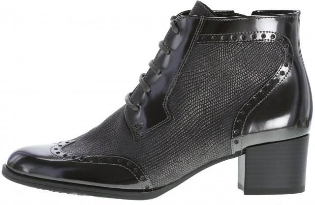 Gabor St Tropez Anthracite Lace up Boot