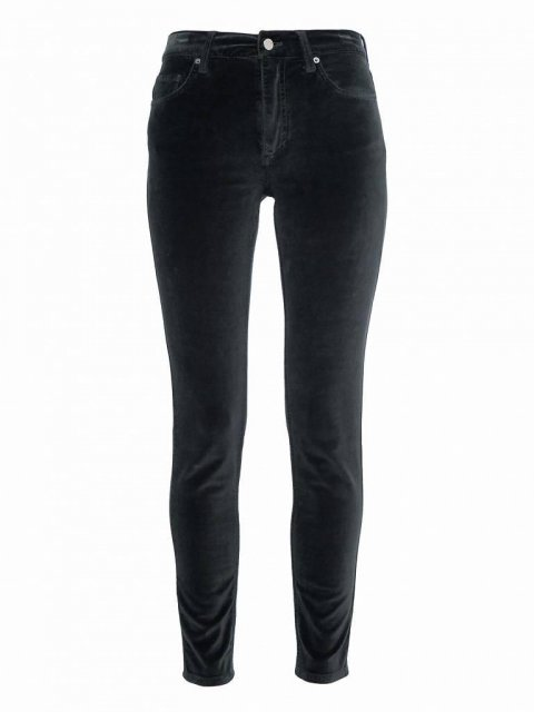 French Connection Velvet Luxe 5 Pocket Skinny Utility Blue