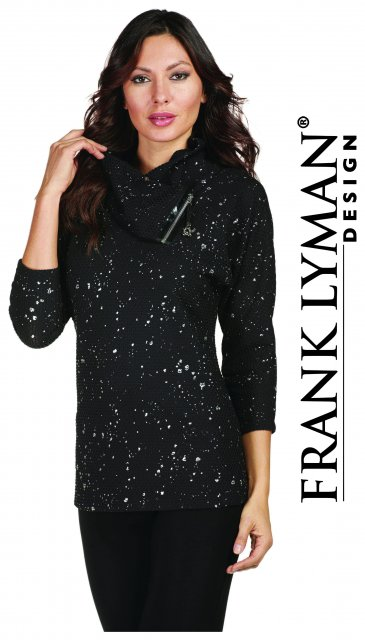 Frank Lyman Top Black/Silver