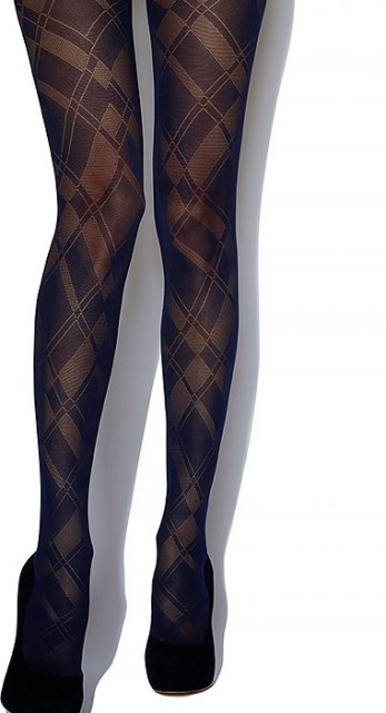 Charnos Argyle Opague Tight 1 Pair Navy