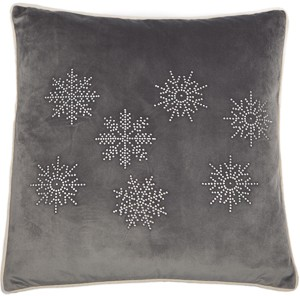 Diamante Snowflake Cushion Silver