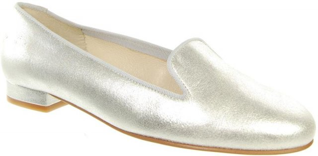 Capploni Athena Silver Plain Loafer
