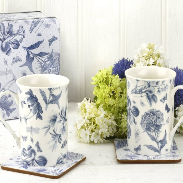 Botanic Blue 5 piece Tin Set