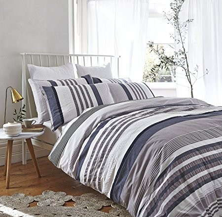 Bianca Seersucker Cotton Stripe Duvet Cover