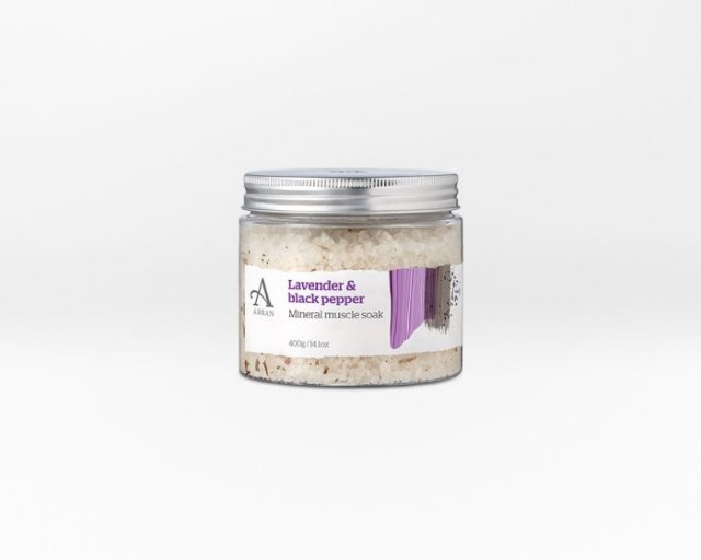 Arran Collections Lavender & Black Pepper Mineral Muscle Soak 400g