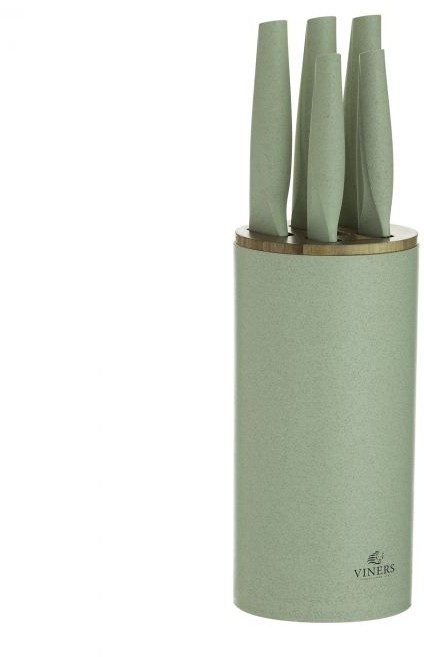 Viners Organic Green 5pc Knife Block Knife Blocks Amp Sets