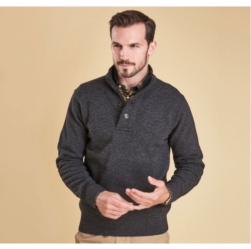 428a98b3857cc8 Barbour Patch Half Zip Jumper Charcoal - Jumpers - Barbours