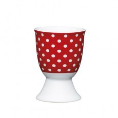 Kitchencraft Egg Cup Ceramic Red Polka Dot