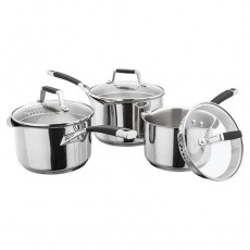 Stellar Induction 3 Piece Draing Saucepan Set
