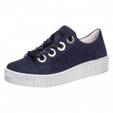 Gabor Blue Thick Laces Trainer