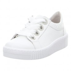 Gabor White Thick Laces Trainer