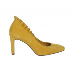 Tamaris Yellow Frilled Edge High Heel