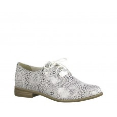 Tamaris White Pattern Brogues