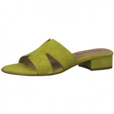 Tamaris Green Slip On Sandals