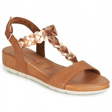 Tamaris Brown and Rose Gold Sandals