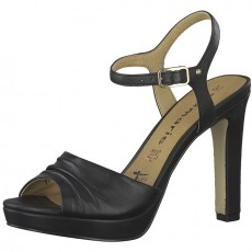 Tamaris Black Leather High Heels