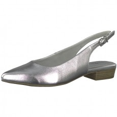 Tamaris Silver Pointy Sling Back Shoe